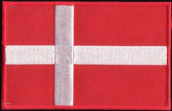 Danish flag ironing patch 8,5x6cm
