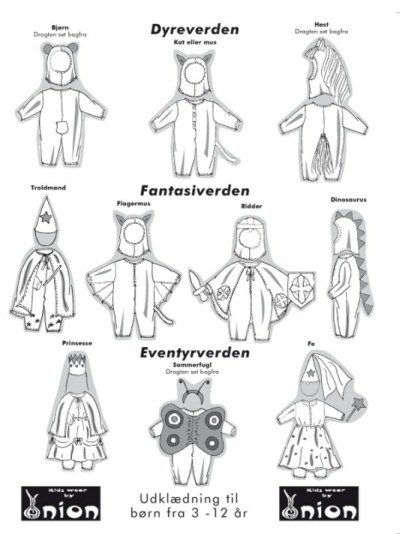 Costumes for kids from 3-12 years