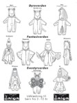 All-round pattern for kidscostumes. You can easily turn this pattern into a wizard, a bear, cat, mouse, horse, wizzard, knigt, bat, fairy, princess, butterfly or anything else you want, only by small changes in colours, ears, or choise of material.