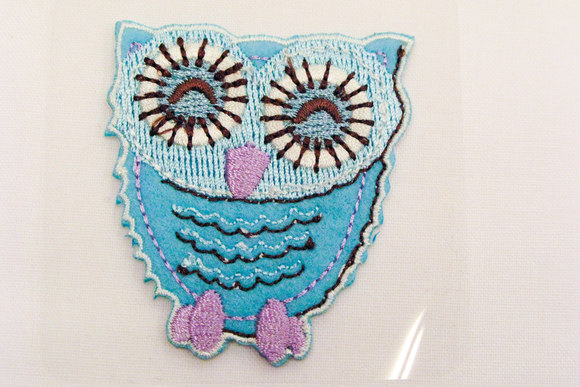 Mint owl patch 5x5cm