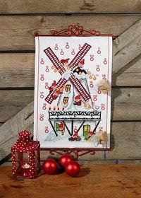 Christmas calendar with jul in mølle