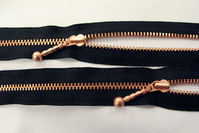 Copper zipper 55cm divisible