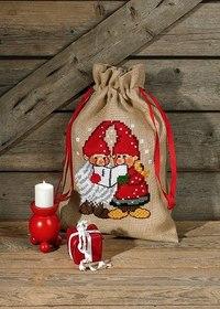 Christmas sack with singing santas.  90-8287.
