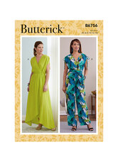 Dress, Jumpsuit and Sash. Butterick 6756.