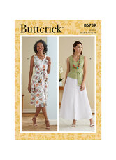 Dress, Sash and Belt. Butterick 6759.