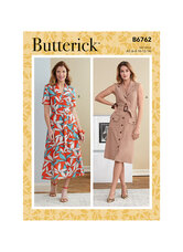 Dress, Sash and Belt. Butterick 6762.