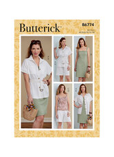 Jacket, Sash, Dress, Top and Shorts. Butterick 6774.