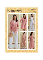 Jacket, Sash, Dress and Jumpsuits. Butterick 6775.