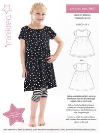 Dress with sleeve. Minikrea 50011.