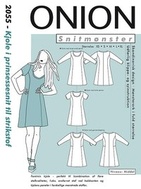 Dress in princess cut for knits. Onion 2055.