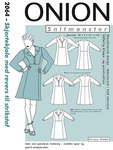 Shirt-dress with lapels for knits