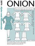 Onion 2074. Dress with drape detail.