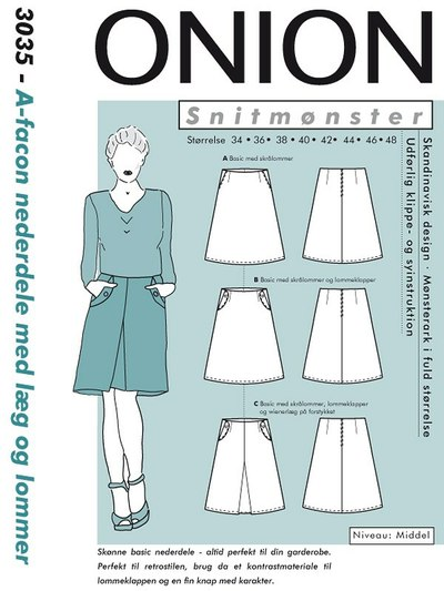 A-shape skirts with pleats and pockets