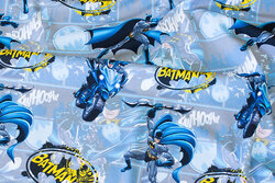 Blue-grey cotton-jersey with Batman