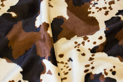 Brunbroget faux cow-fur in beige and brown