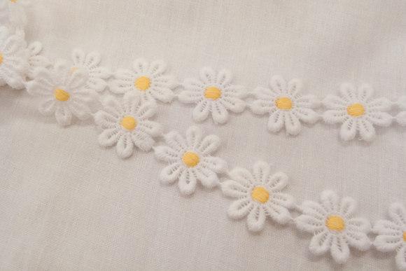 Daisy ribbon, 2 cm flower