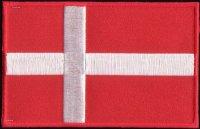 Danish flag ironing patch 8.5 x 6 cm