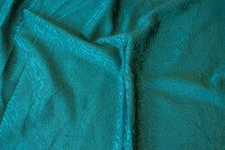 Dark green jacquard-woven polyester and viscose