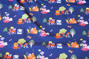 Dusty-navy cotton-jersey with Gurli pig and friends