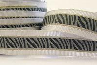 Elegant zebra ribbon 2 cm