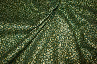 Green patchworkcotton with gold stars pattern