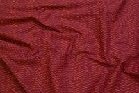 Retro cotton with pattern rust-orange
