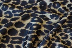 Semi-shine polyester-jersey in cheeta-pattern