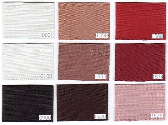 Thai silk 100% dupion silk, white, black, brown and red colors