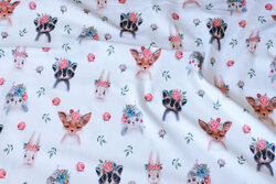 White, organic cotton-jersey with cute animal-heads