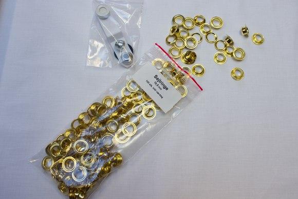 100pc eylets 10,50mm golden