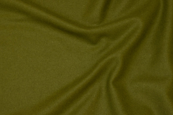 100% medium-thickness wool flannel in olive-green