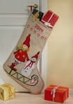 Embroidey Christmas stocking