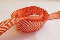 Woven ribbon orange/white