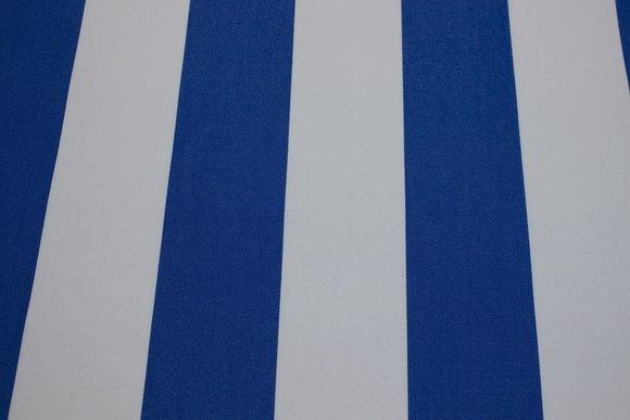 Texgard-coated awning fabric, royal blue and white