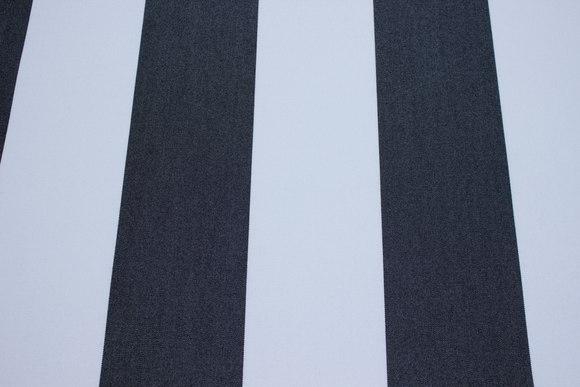 Texgard-coated awning fabric, black and white