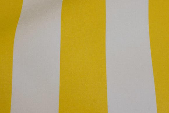 Texgard-coated awning fabric, yellow and white