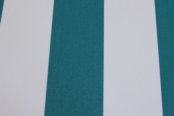 Texgard-coated awning fabric, green and white