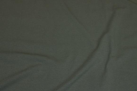 Dark army-green cotton-jersey