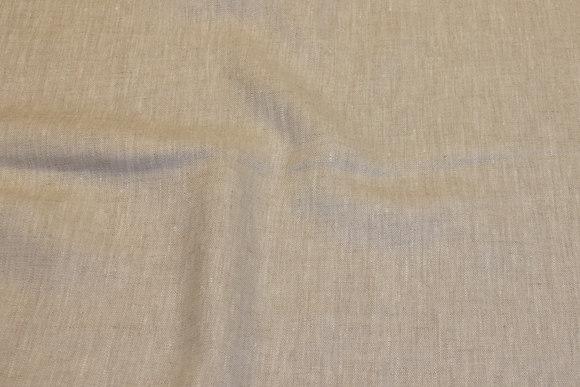 100% linen in light natural color, speckled