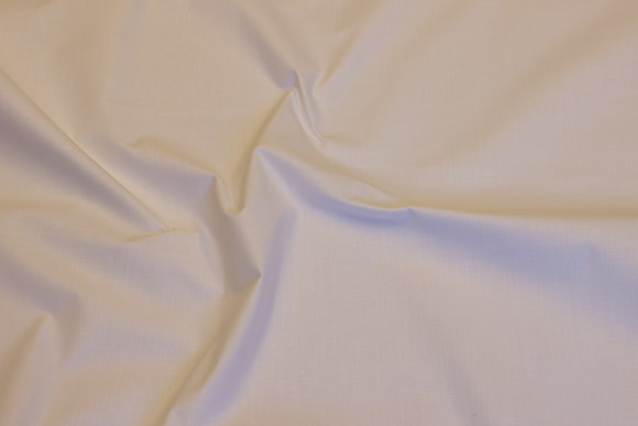 Lightweight, white linen-woven cotton and polyester