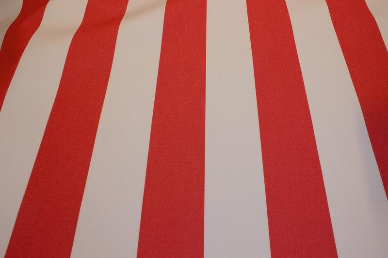 Opprinnelig Texgard-imprægneret markisestof, rød og hvid | FJØLNER LS-86