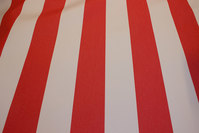 Texgard-coated awning fabric, red and white