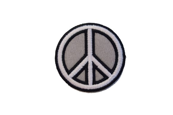Peace iron on patch 6cm