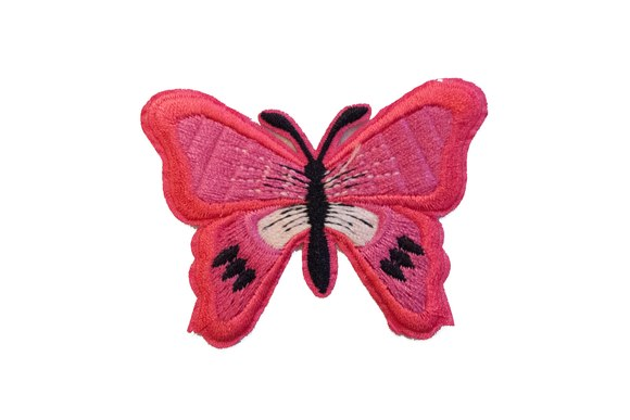 Butterfly patch pink 5x7cm