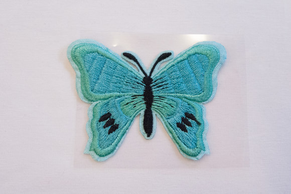 Butterfly patch mint 5x7cm