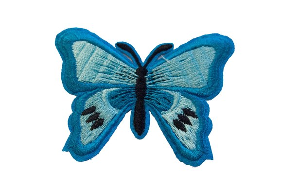 Butterfly patch turquoise 5x7cm