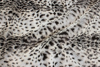 Luxury fur in faux snow-leopard.