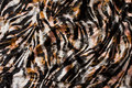 Ice-velvet with stretch with animal-print in black, grey and melon