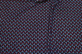 Small-patterned micro-polyester in navy, light blue and discrete gold