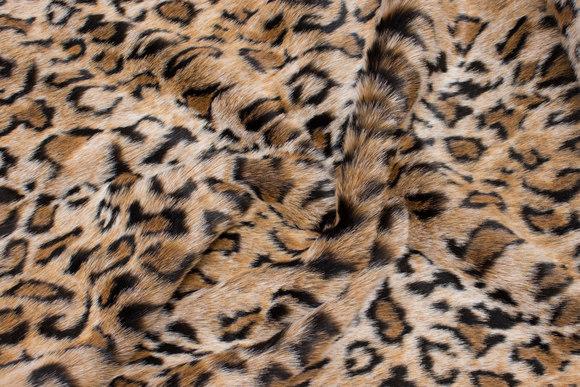 Luxury fur in supersoft faux jaguar